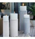 Engels Kerzen Säule MATTEO aus Natur-Beton inkl. Teller