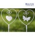 Boltze Gartenstab FLIA 2-tlg. Set weiss