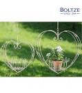 Boltze Pflanztopfhänger HERZ 2-tlg. Set grau
