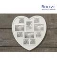Boltze Herzbilderrahmen weiss