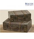 Boltze Truhe TAMIKA 2-tlg. Set Länge 32-36 cm