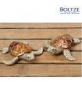 Boltze Deko-Figur Schildkröte BIJAN 2-tlg. Set 11 cm