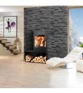Haas+Sohn Kaminofen TURIN easy mit Design-Holzfach