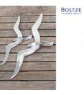 Boltze Wand-Möwe Aluminium silber