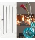 Innentüre Stiltüre FINESSE 22 Weisslack 9010 - mit 2 Lichtausschnitten