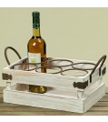Boltze Flaschenhalter HANNES aus Holz Länge 40 cm