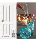 Innentüre Stiltüre FINESSE 40 Weisslack 9010 - mit 2 Lichtausschnitten