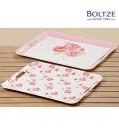 Boltze Deko-Tablett ROSIE 2-tlg. Set rosa