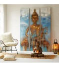 Wandbilde-Set BUDDAH 3-tlg-handbemalt
