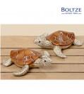 Boltze Deko-Figur Schildkröte BIJAN 2-tlg. Set 19 cm