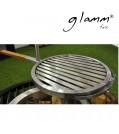 glammfire Grillrost Argentine Parilla aus Edelstahl mit Holzgriff