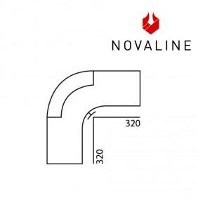 NOVALINE Rauchrohr-Bogen 90°, gezogen - Senotherm Schwarz