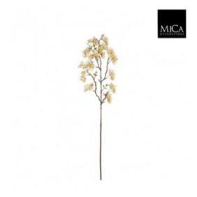 MICA Kunstpflanze Blütenzweig in hellgelb