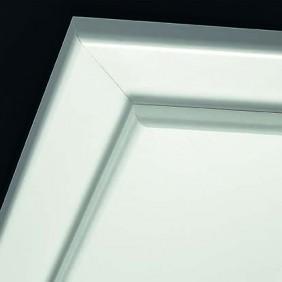 Holzzarge CPL-Beschichtung Weiß 9010-Rundkante