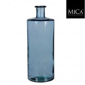MICA Vase / Flasche GUANA  Blau Ø 15 cm
