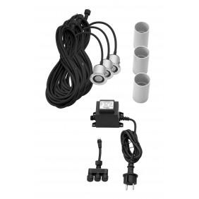 dot spot colorgard LED-Einbauspot Komplettset OUTDOOR - rund 230V / 12 V, 1W