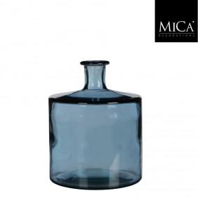 MICA Vase / Flasche GUANA  Blau Ø 21 cm