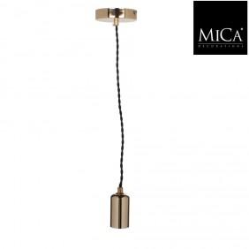 MICA Lampe Kabel in Gold - 150 cm inkl. Baldachin