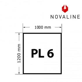 NOVALINE Funkeschutzplatte aus Spezialglas Format PL6 Rechteck