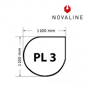 NOVALINE Funkeschutzplatte aus Spezialglas Format PL3 Tropfenform
