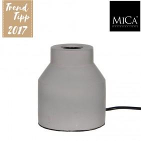 MICA Tischlampe NEW YORK in Betonoptik Ø 9,5 cm