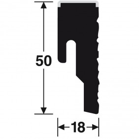 Meister Steckfußleiste Nadura NB 400 - Hickory betongrau 6223 - Profil 8 PK