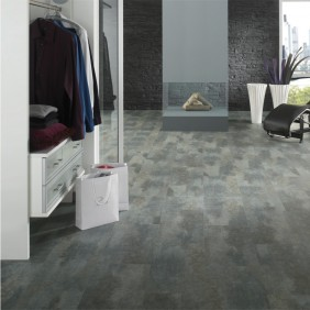 KWG Designvinyl ANTIGUA STONE Schiefer grigio-HYDROTEC