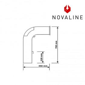 NOVALINE Rauchrohr- Set 1 Ø 15 cm passend zu Kaminöfen von NOVALINE