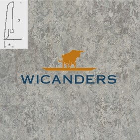 WICANDERS Steckfußleiste Schiefer Chrome