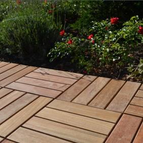 OSMO Holzrost GARDA Cumaru-glatt / mit Kunststoffträger