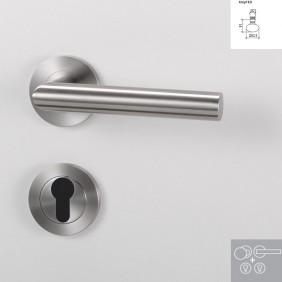Griffwerk Wechselgarnitur LUCIA PROFESSIONAL K3 - Edelstahl matt