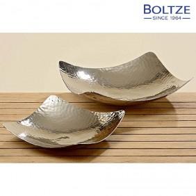 Boltze Schale GISA 2-tlg. Set Aluminium silber