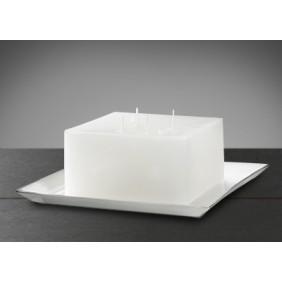 Engels Kerzen CAMPO Kerzenteller-Aluminium weiß emailiert