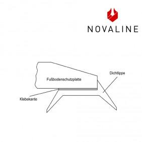 NOVALINE Schutzlippe für Glasbodenplatte aus transparentem Silikon