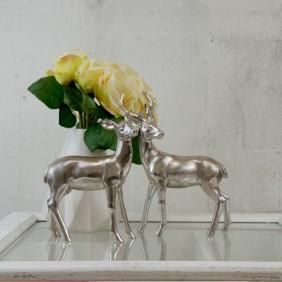 Boltze Figuren REH & HIRSCH in Silber