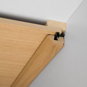 MeisterWerke Rund-Deckenabschlussleiste Silberesche 330-Holznachbildung
