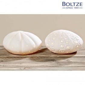 Boltze Lampe FABIUS weiss Ø12 cm