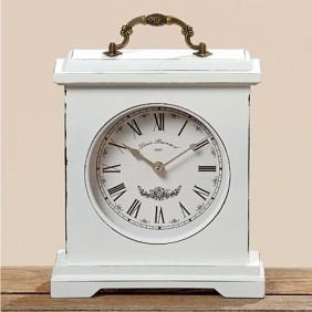 Boltze Uhr BETTY weiss Höhe 24 cm