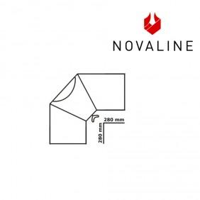NOVALINE Rauchrohr-Bogen 33° -Senotherm Schwarz