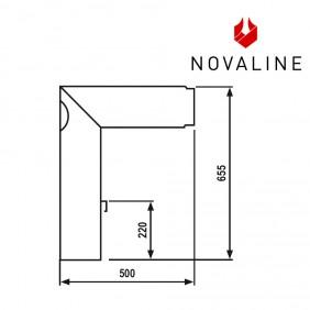 NOVALINE Rauchrohr- Set 3 passend zu Kaminöfen von NOVALINE