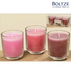 Boltze Kerzentopf 3-tlg. Set rosa