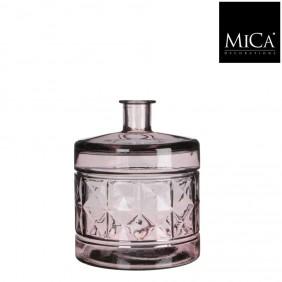 MICA Vase / Flasche GUAN DIAMOND in Rose´Ø 21 cm