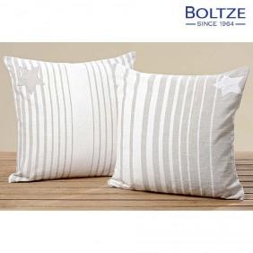 Boltze Kissen ALCEA grau 100% Baumwolle