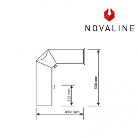 NOVALINE Rauchrohr- Set 2 passend zu Kaminöfen von NOVALINE