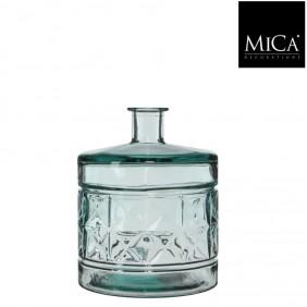 MICA Vase / Flasche GUAN in transparent Ø 21 cm