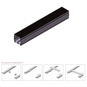 elevato Terrassensystem VALVA Basisprofil 60 x 50 mm - Aluminium schwarz
