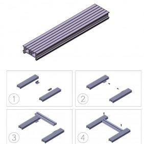 elevato Terrassensystem VALVA Basisprofil 60 x 25 mm - Aluminium