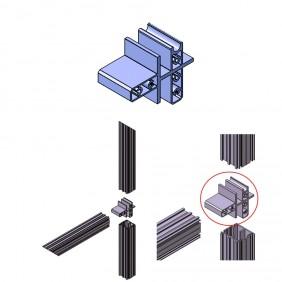 elevato Terrassensystem VALVA Universalverbinder für Basisprofil 60x50 mm