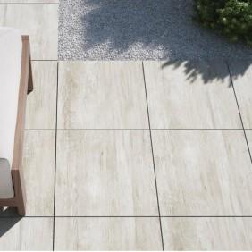 elevato Terrassensystem VALVA Keramik in Holz-Optik Eiche weiß