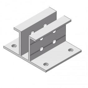 elevato Terrassensystem VALVA Fußaufnahme für Basisprofil 60x50 mm
